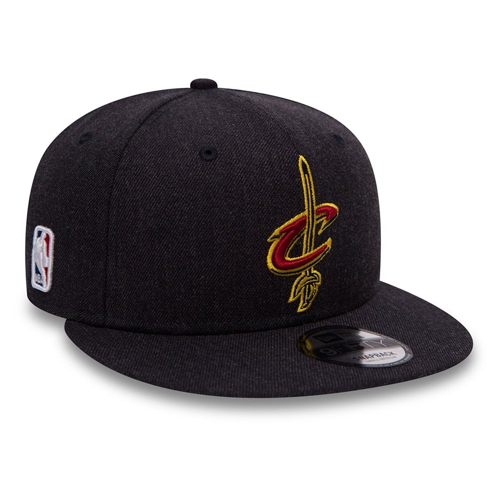 New Era NBA Cleveland Cavaliers Team Heather 9Fifty Snapback Cap ... b297990f482