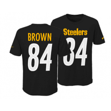 11352369a NFL Pittsburgh Steelers Antonio Brown Youth Pride Name and Number 3.0  T-Shirt