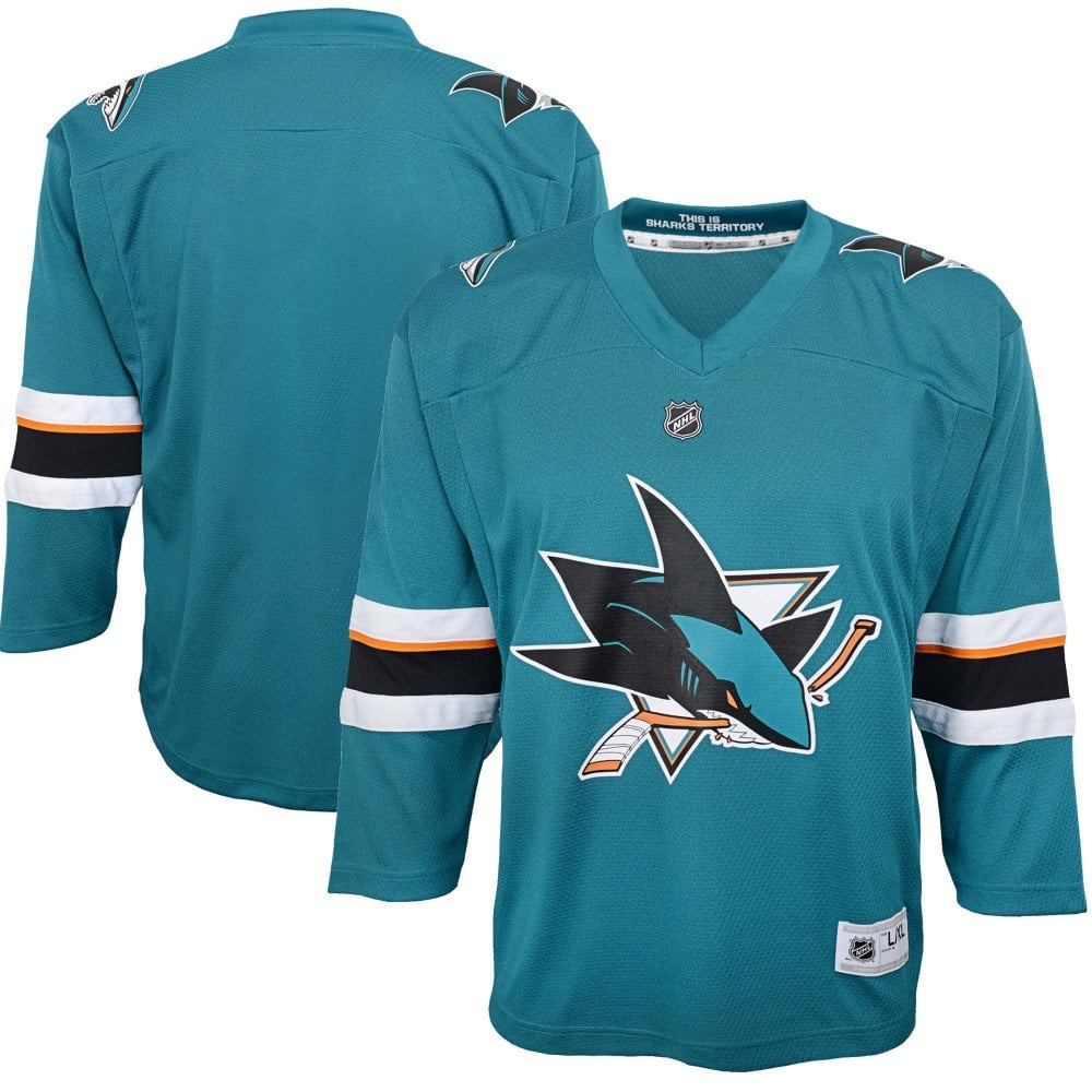 f6e70711c Outerstuff NHL San Jose Sharks Replica Youth Home Jersey - Camisetas ...